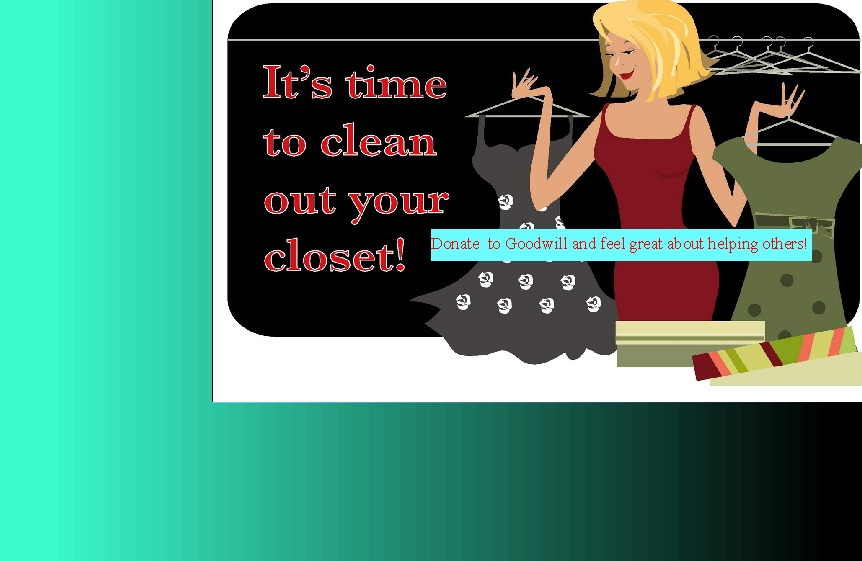 Clean out your closet goodwill industries of east texas - Cleaning out your closet ...