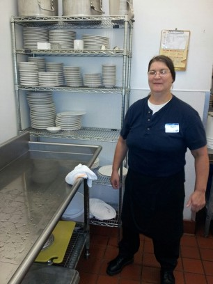 Mary Franklin in her new position as Server for Atria Copeland in Tyler TX